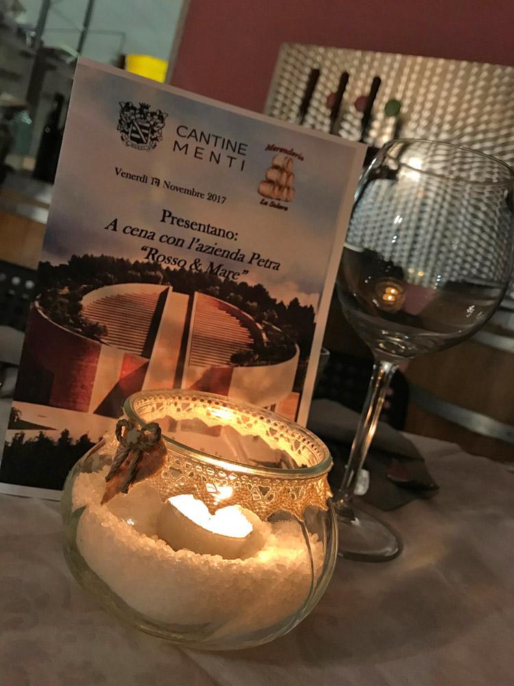 A TAVOLA CON DANIELE! – Rosso & Mare – Venerdì 17 Novembre a Cena con l'azienda Petra – Prenotazione Obbligatoria